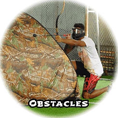 Obstacles setup in an Archery Tag Singapore event