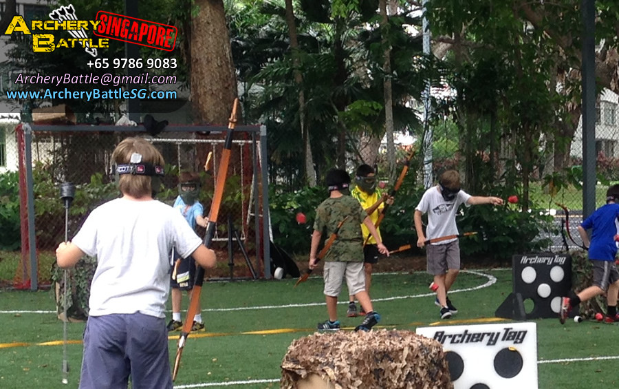 Shoot shoot shoot! Basic Archery coaching for the kids | Archery Tag Singapore