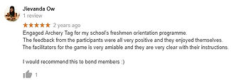 Review by Jievanda of Archery Tag game for Singapore university students