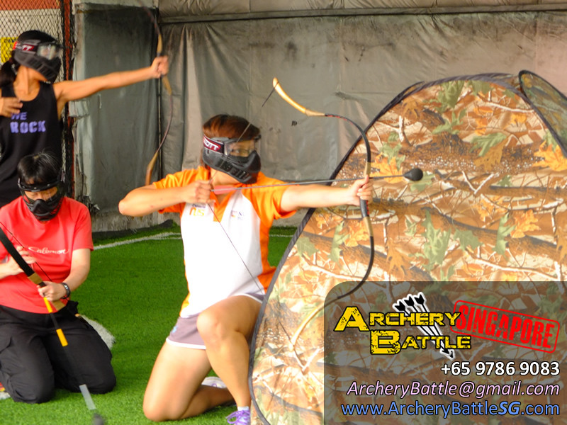 Archery Tag action at The Cage