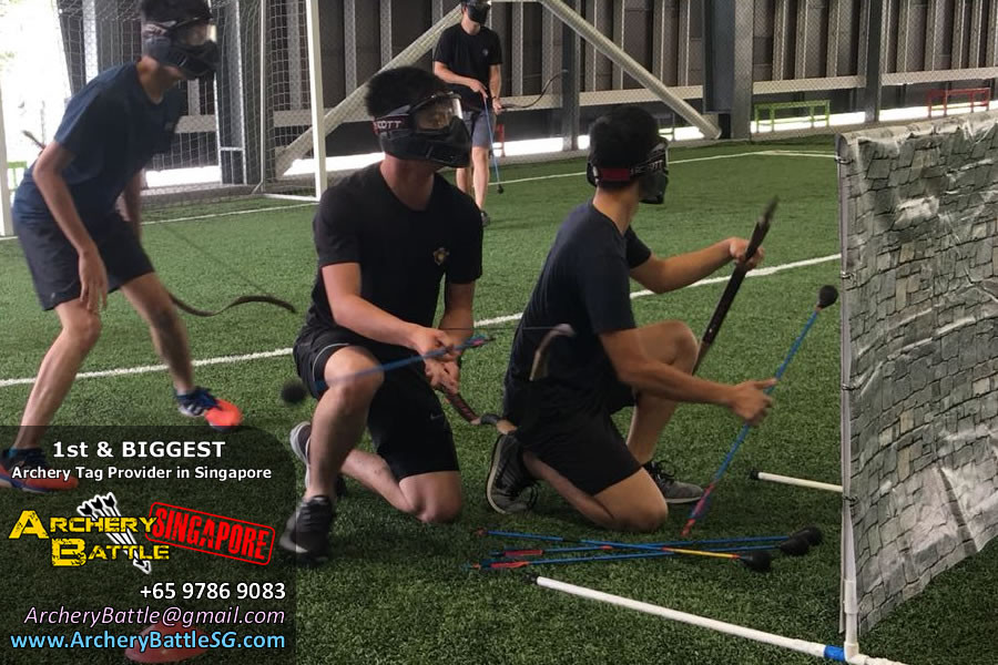 Collect arrows to shoot Archery Tag Singapore