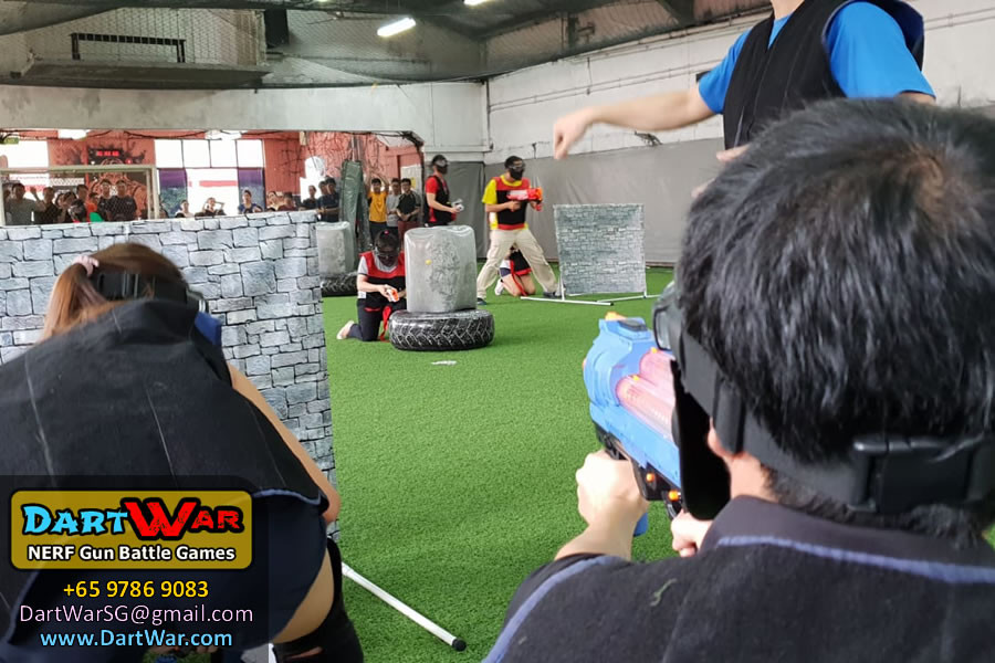 Variety of obstacles setup in NERF Rival Tag - Dart War Singapore