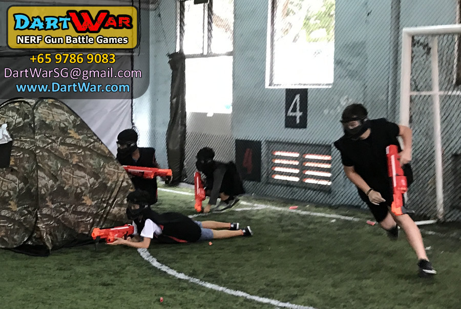 Red Team in Action | Dart War NERF Birthday Party Singapore