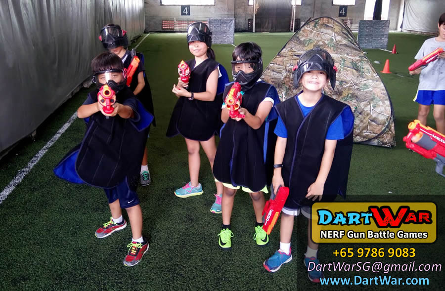 Blue Team Dart War NERF Gun Birthday Party