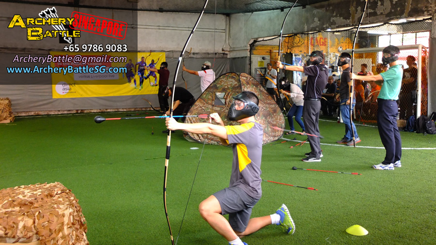 Archery Tag Singapore with Samurai bows