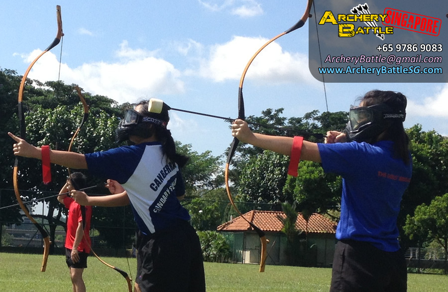 Girl power! Archery Tag Singapore at Canberra Secondary School