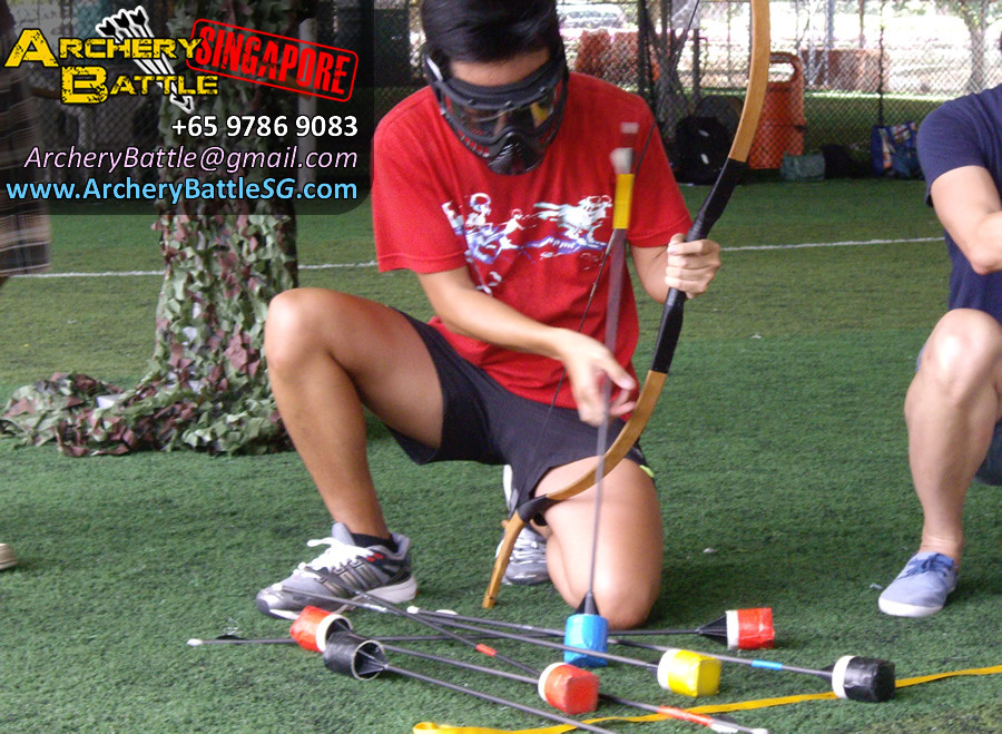 Choosing arrows - Archery Tag for Monetary Authority of Singapore