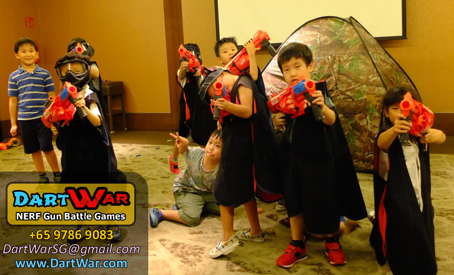 Group photo - NERF Gun Battle Games for Birthday Party