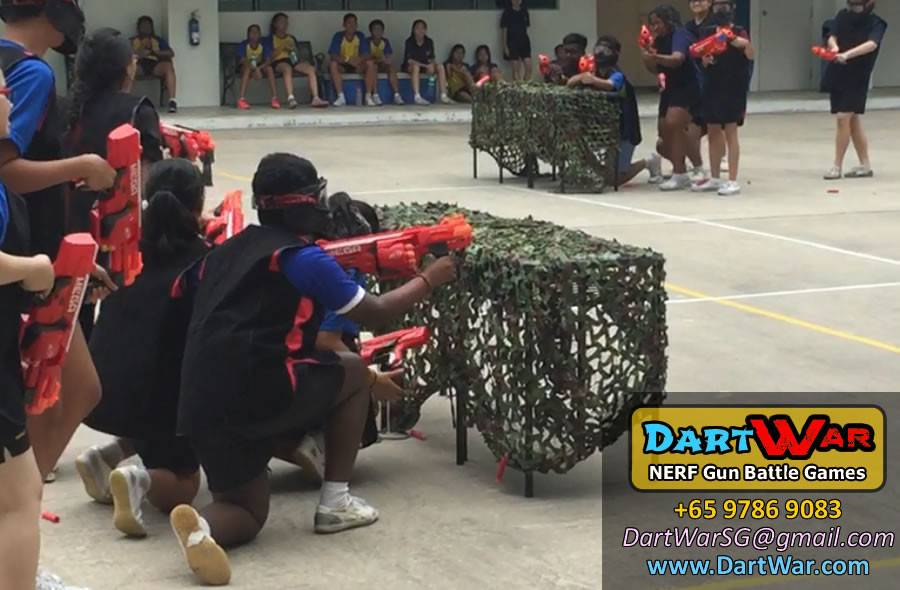Let's battle! NERF Team Building & Cohesion at Woodlands Secondary School by Dart War