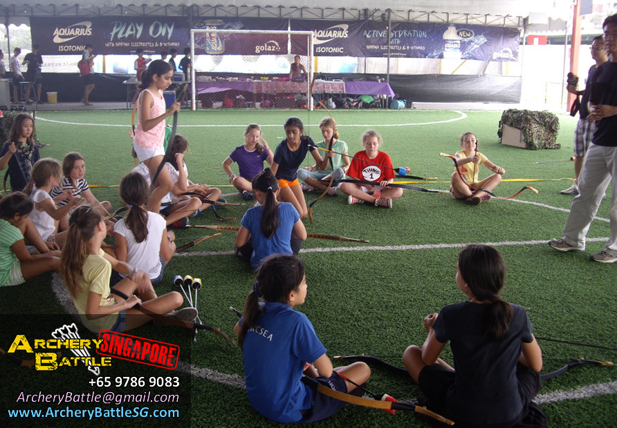 Briefing and Safety - Archery Tag Singapore Birthday Party