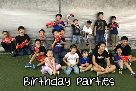 NERF gun battle Birthday Parties