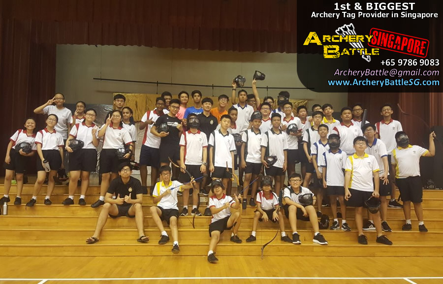Students Archery Tag Singapore group photo
