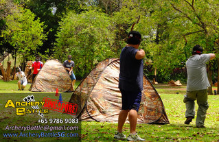 Archery Tag at Fort Canning Hill Park