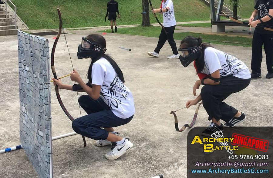 Girl power! Archery Tag Singapore
