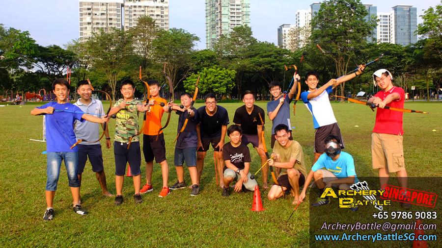 Group Photo | Archery Tag Singapore at West Coast Park