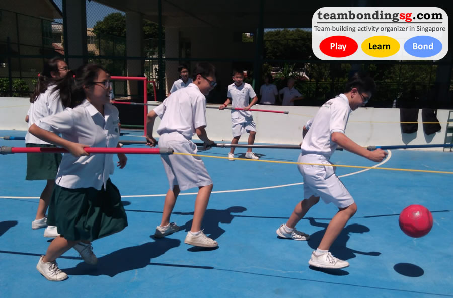 Human Foosball game for the students