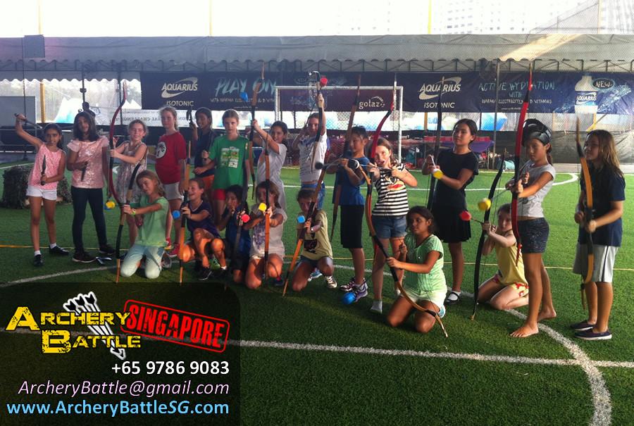 Group Photo Archery Tag Singapore Birthday Party