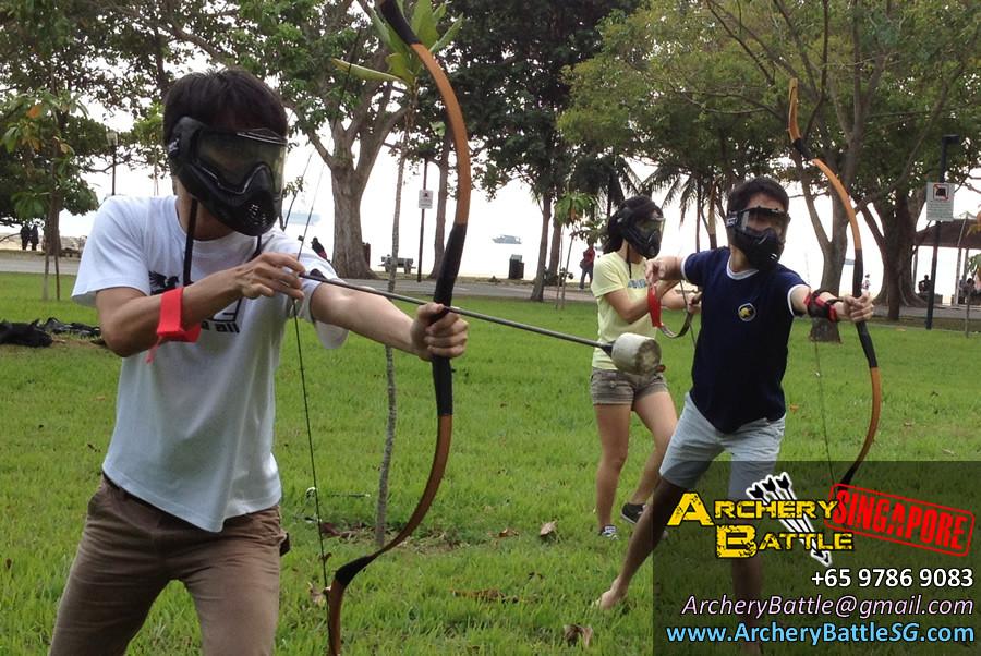 Archery Buddies! - Archery Tag Singapore at East Coast Park
