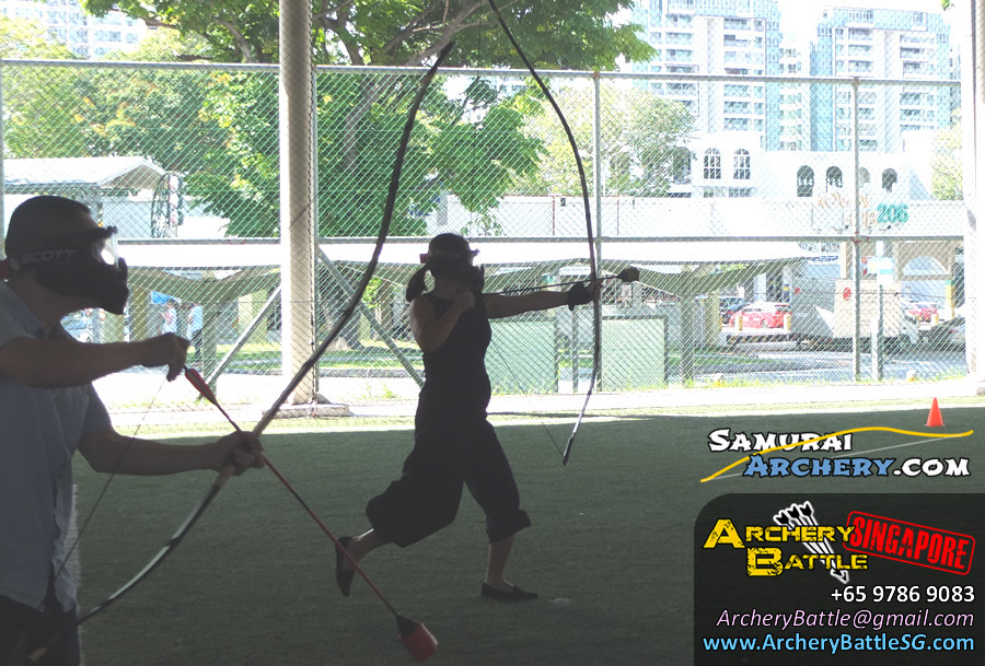 Charge into battle! Samurai Archery Tag Singapore