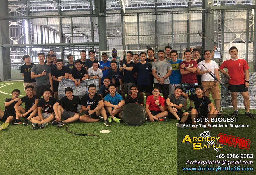 Group photo Archery Tag Singapore at Tampines Hub
