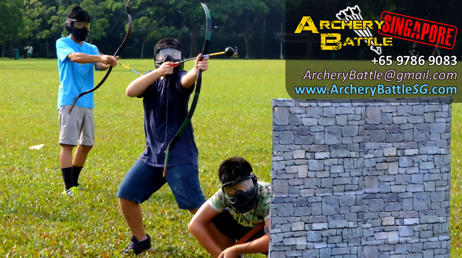 All out war! | Archery Tag Singapore at West Coast Park