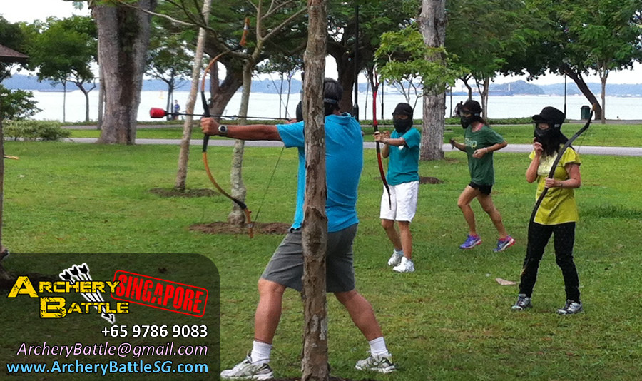 Archery Tag Singapore for Methodist Girls' School at Changi Beach Park