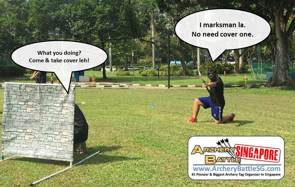 No need cover because marksman!