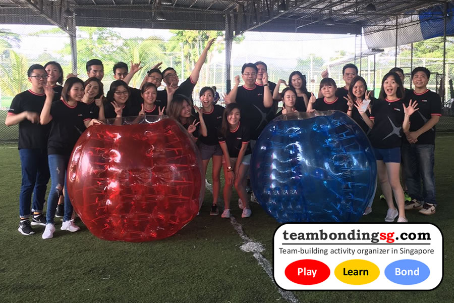 Group Photo Bubble Soccer Singapore