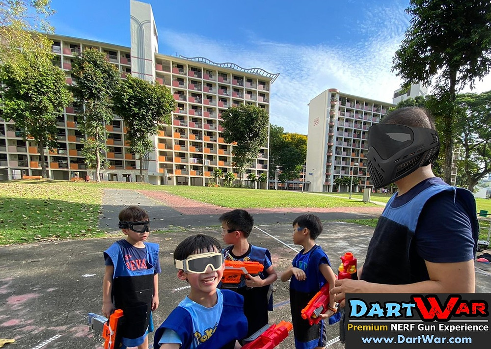 Beautiful weather and HDB for a NERF game