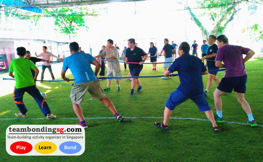 Human Foosball teamwork