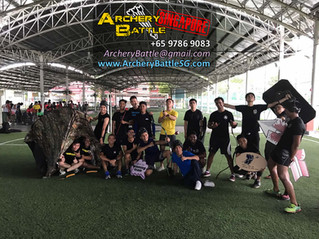 Archery Tag for Marina Bay Fire Station