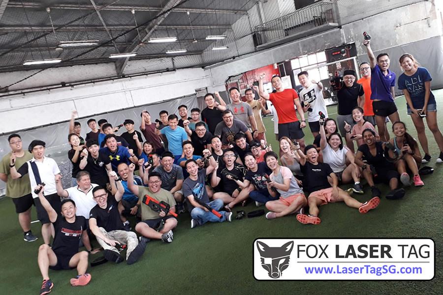 Group Photo 50 pax FOX Laser Tag Singapore
