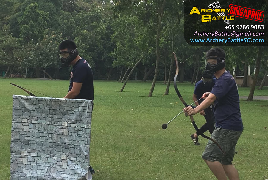 Just shoot, no time already! Archery Tag Singapore West Coast Park