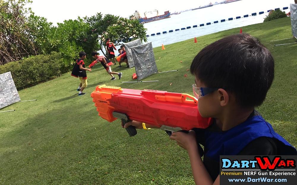 Sniper NERF player