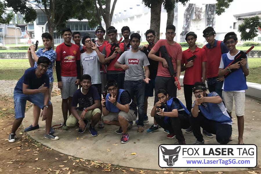 Group photo FOX Laser Tag Singapore