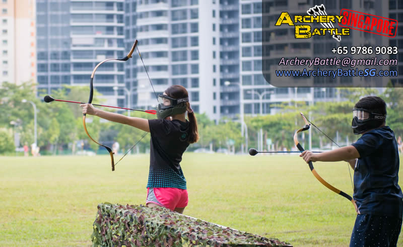 Archery Tag in Singapore, at Punggol Field