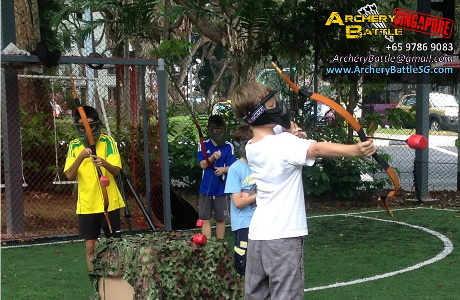 It's battle time! | Archery Tag Singapore