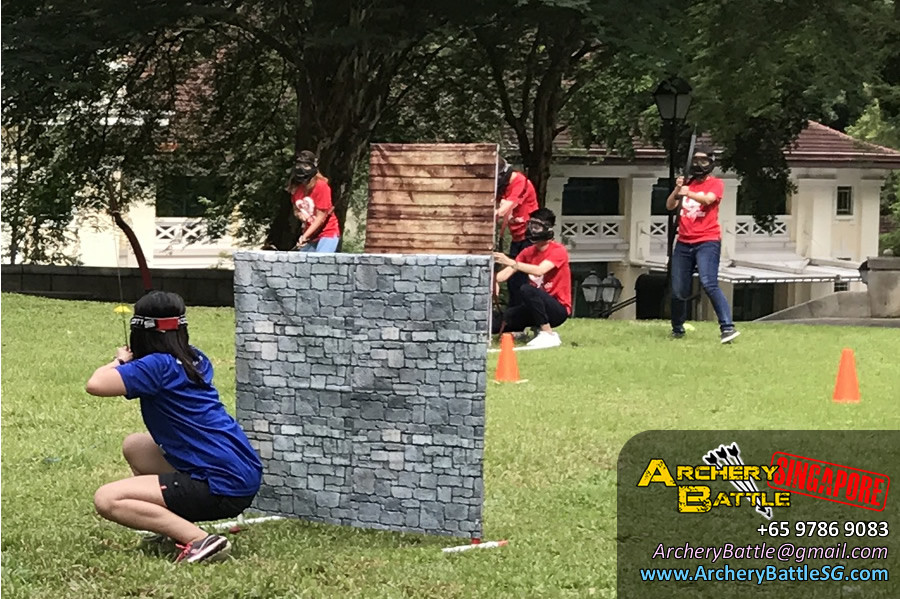 Red Team launching their Archery Tag offense