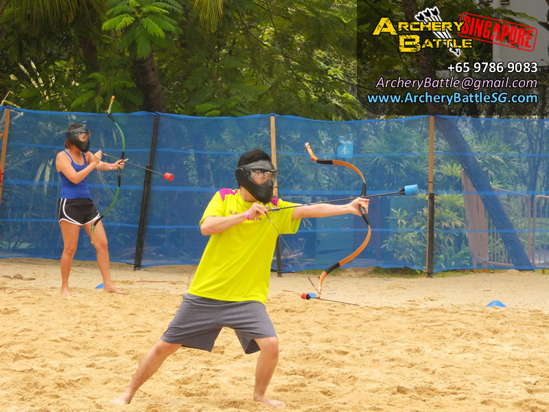 Archery Tag at Adult Playground 2014 Sentosa!