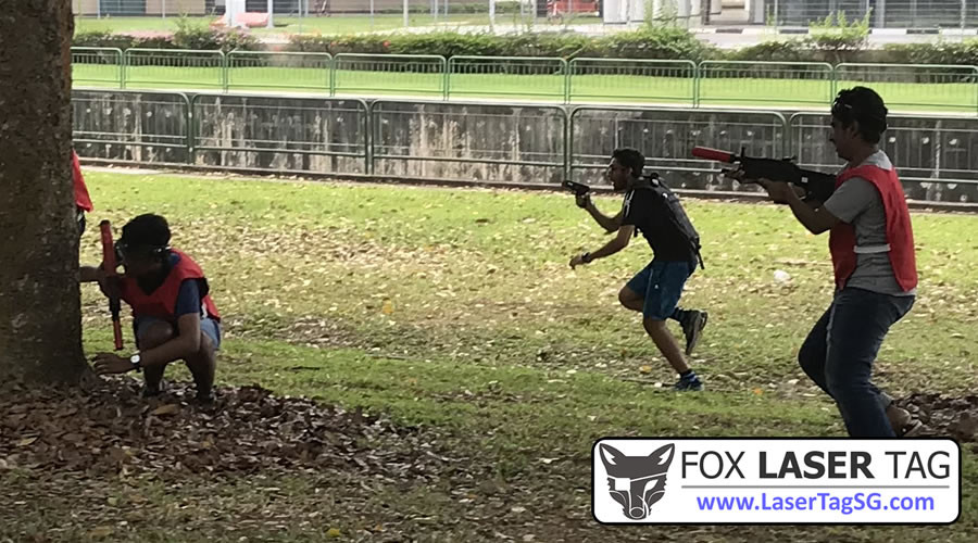 Taking up position - FOX Laser Tag Singapore
