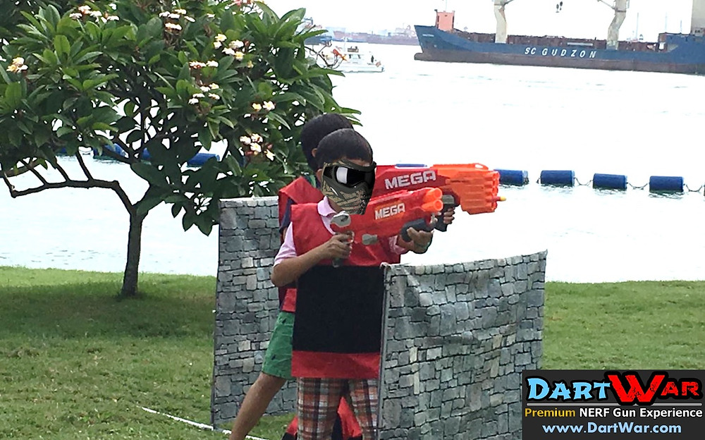 Ships in the background as the NERF battle continues