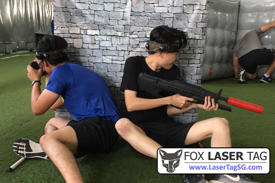 Heavy enemy fire, hurry take cover! - FOX Laser Tag Singapore