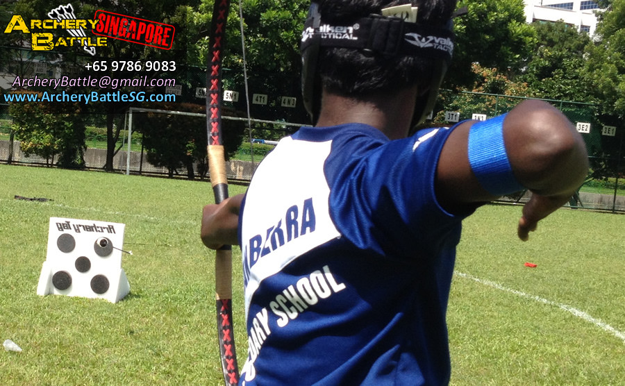 Target Practice! Archery Tag Singapore at Canberra Secondary School