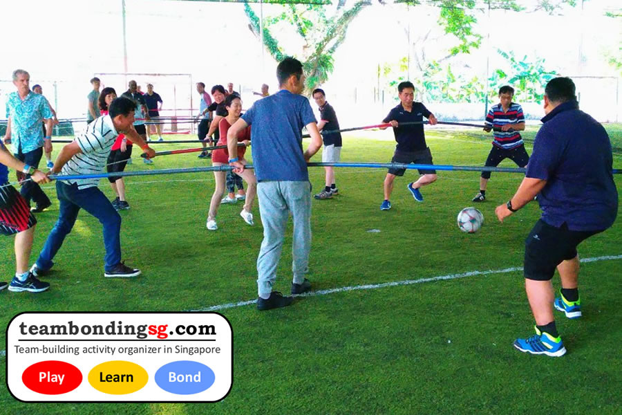 Human Foosball Singapore Company Team Building Events