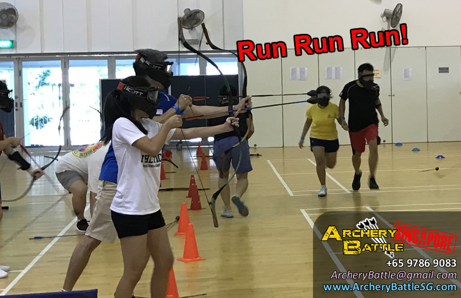 Rain of Arrows, run run run! Father Daughter Archery Tag Game