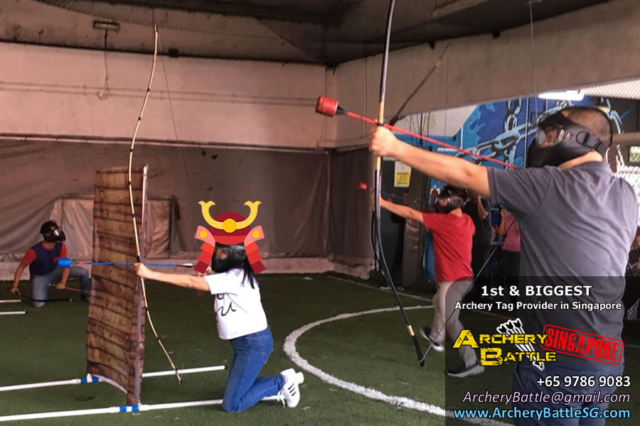Take cover behind our obstacles - Samurai Archery Tag Singapore