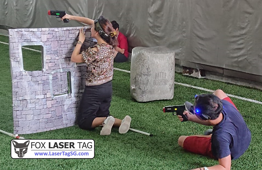 Laser Tag Singapore cohesion for small groups obstacles setup.