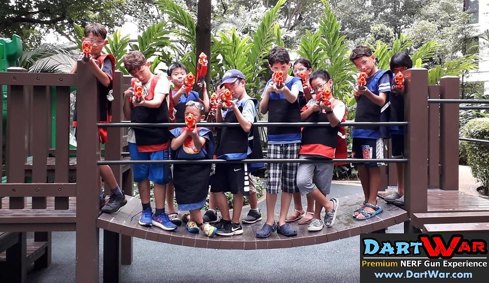 Group photo NERF at Playground