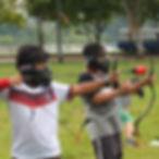 Kids Archery Tag equipment