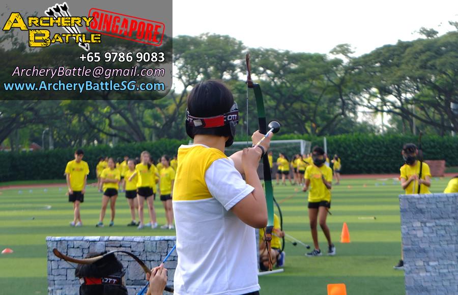 Brave solo Archer in our Archery Tag games for Victoria Junior College